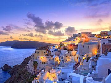 Fly til Santorini