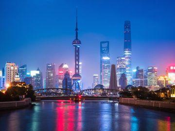 Fly til Shanghai