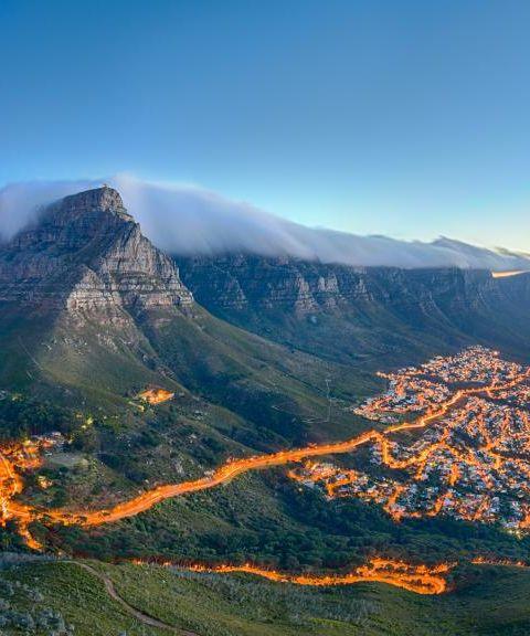 Fly til Sør-Afrika