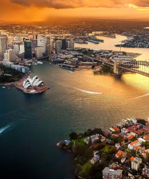 Fly til Australia